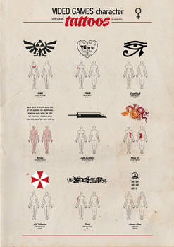 Video Games character personal tattoos - 02