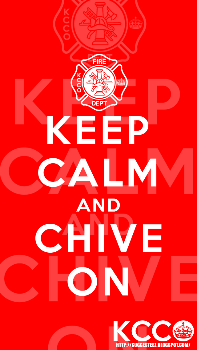 Firefighter KCCO Red Keep Calm And Chive On IPhone By Suggesteez