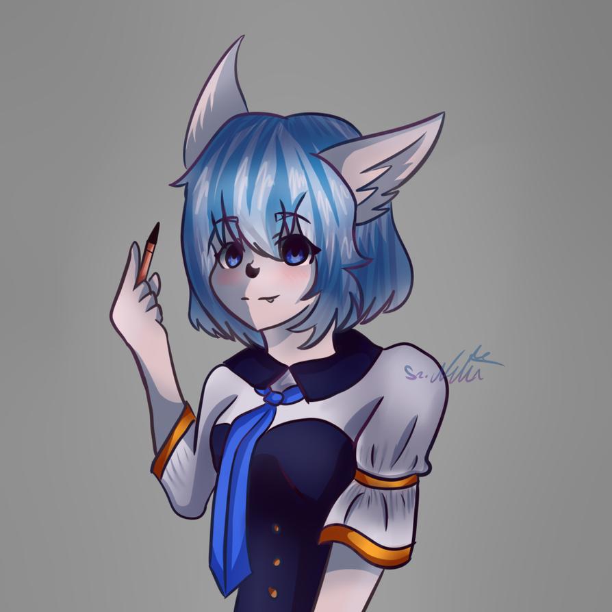 Wolfychu by nellydrawings