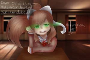 Just Monika redraw by nellydrawings