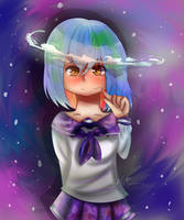 Earth-chan by nellydrawings