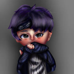 Chibi Rap Monster by nellydrawings