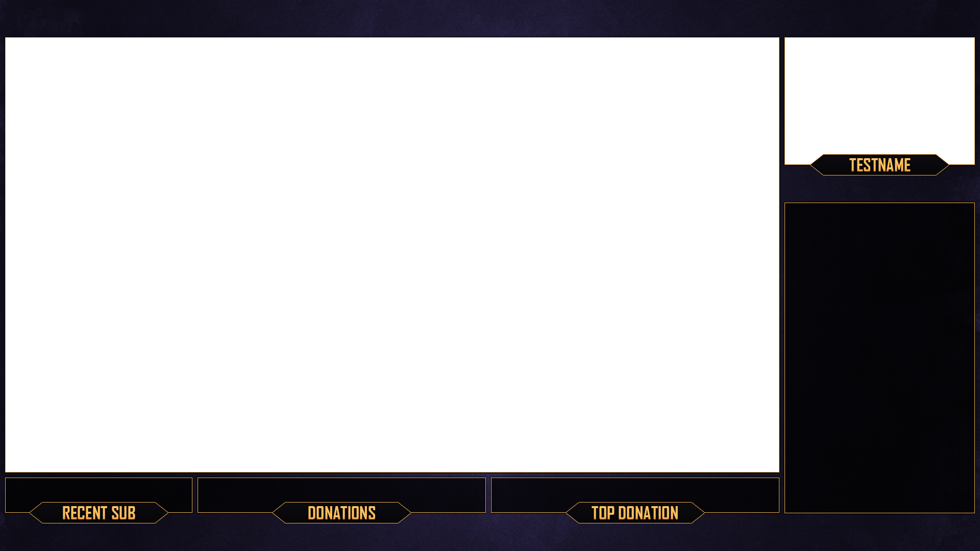 Twitch stream overlay purple gold download by - Bulgomme transparent pour table ...