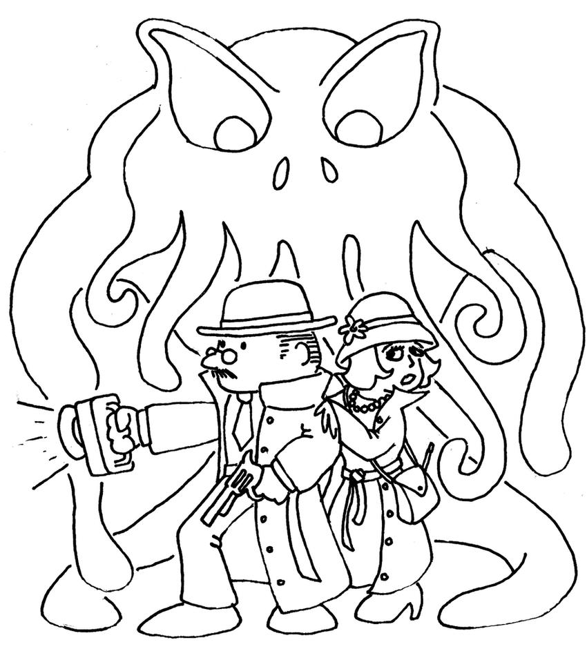 Cthulhu coloring page by philipbedard on deviantart for Cthulhu coloring pages