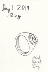 Inktober 2019 #1 - Ring