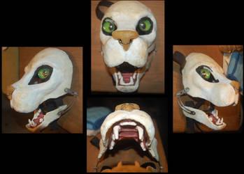 Feline fursuit head WIP4 by AlexxxLupo