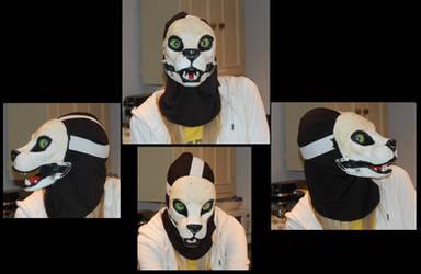 Feline fursuit head WIP5 (Jaw works!) by AlexxxLupo