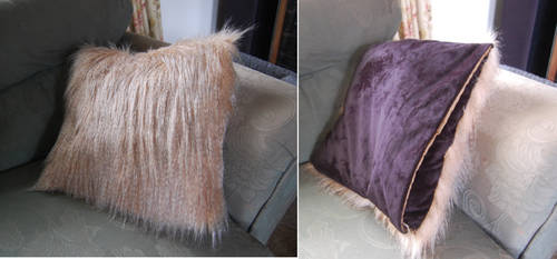 Faux fur cushion cover by AlexxxLupo
