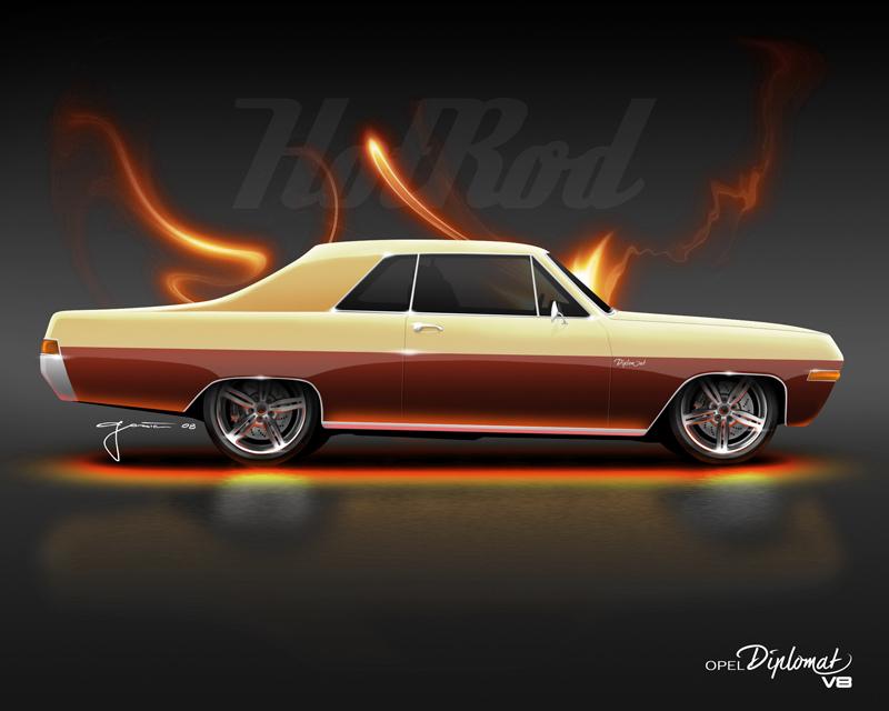 HotRod - Opel Diplomat V8 by geci on DeviantArt