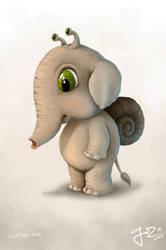 Snailephant by geci