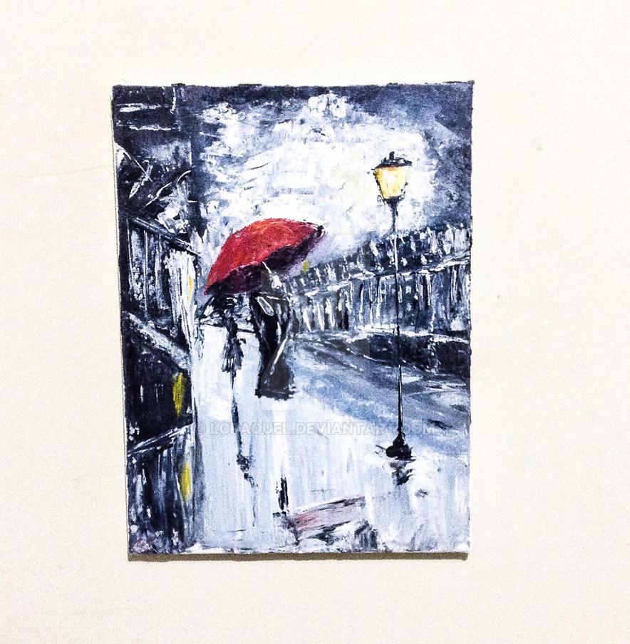 Red umbrella by LCraquel