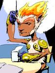 Infernape Drinks Coffee