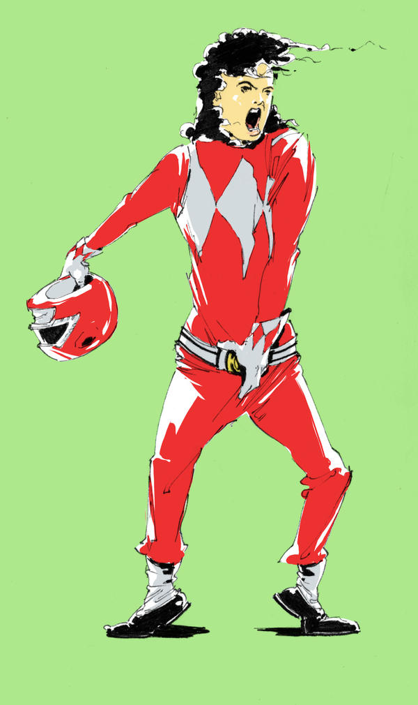 Michael Jackson RED RANGER by Gumbogamer
