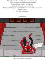 -Rolling Backpack vs. Stairs- by PHantomDragon-56