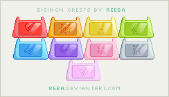 Digimon Crests by Reba