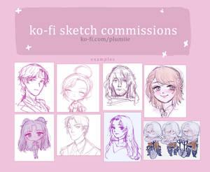 Ko-fi Sketch Commissions