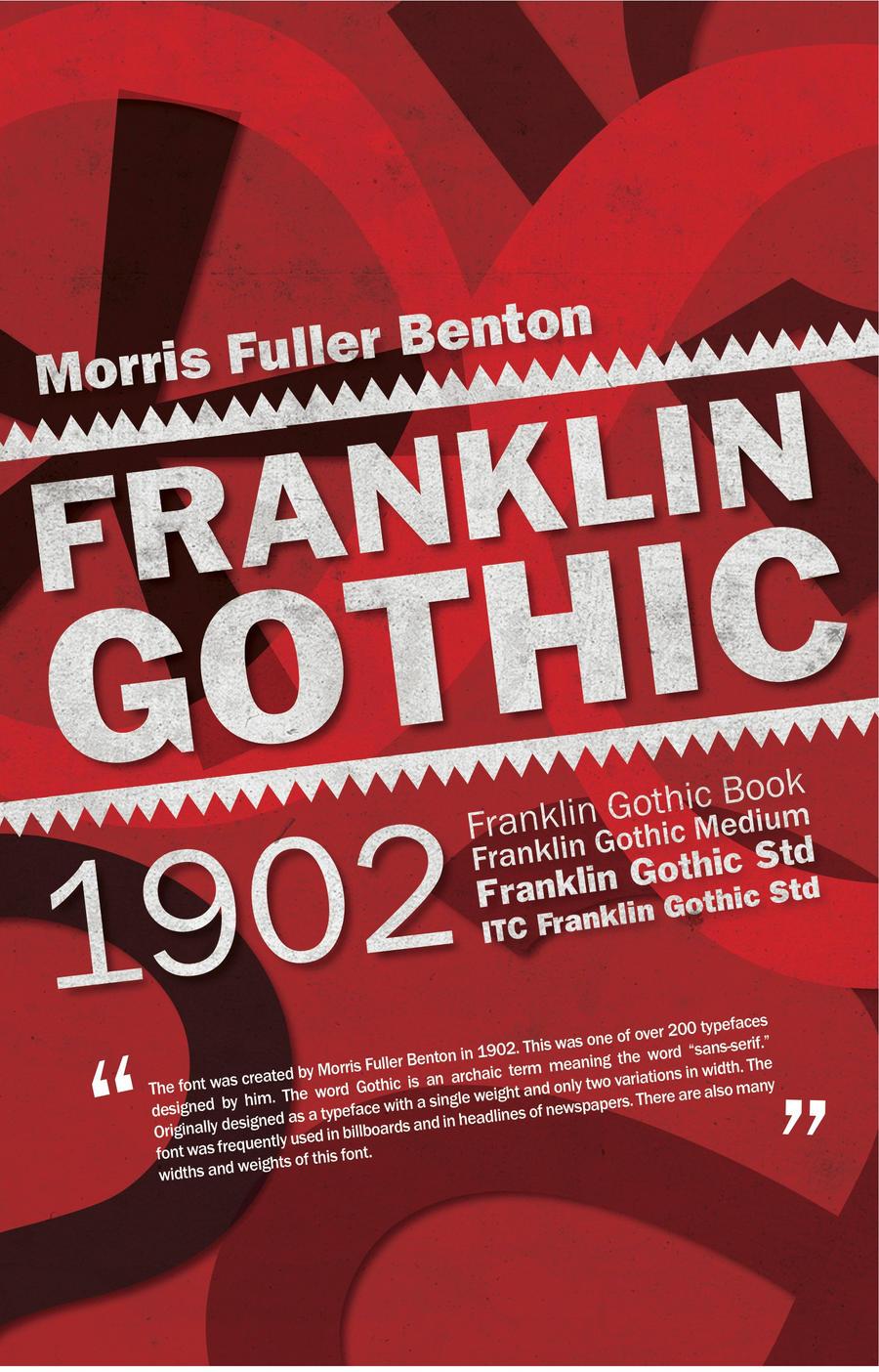 Franklin Gothic Type Poster by heyer815 on DeviantArt