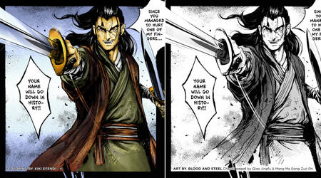 Coloring Blood and Steel Manga