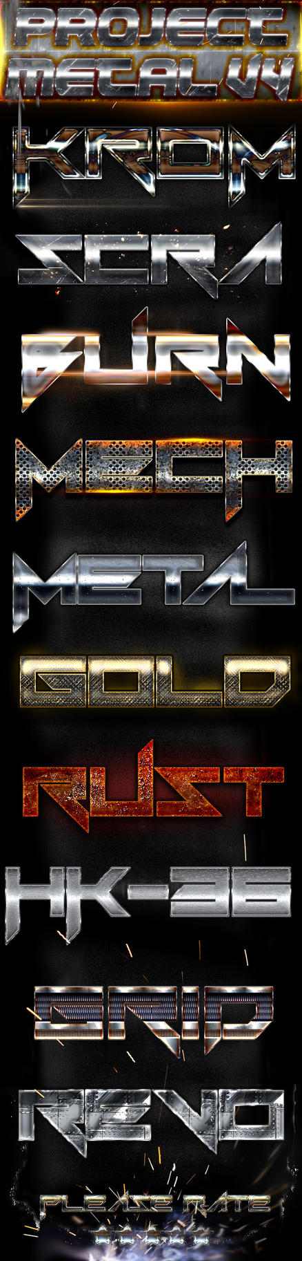 Metal Styles V4 by Ejdesign91
