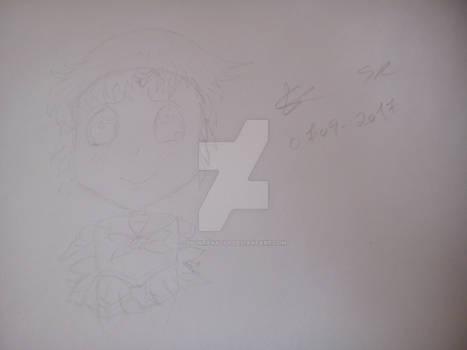 Sailor Mercury Chibi Sketch training