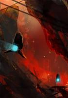 Lava underground by sketchboook