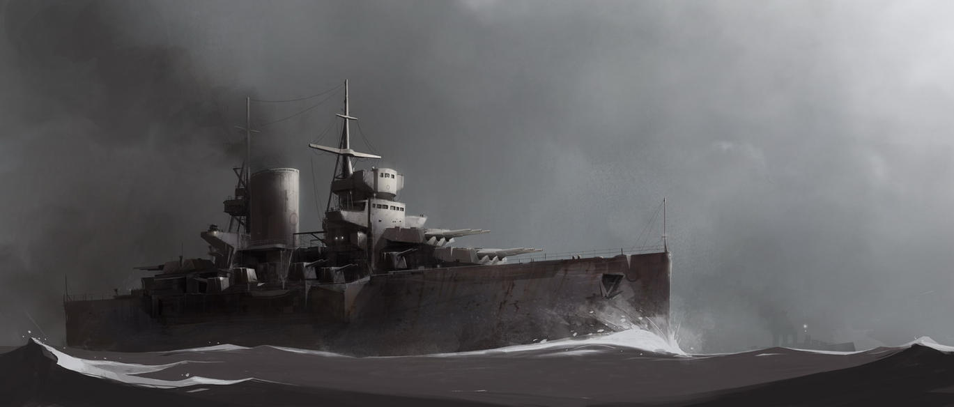 USS Princeton by sketchboook