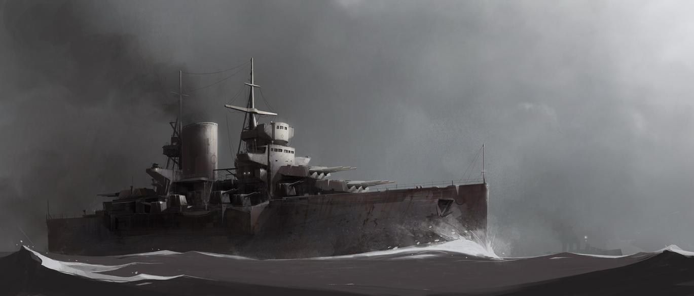 USS Princeton by sketchboook