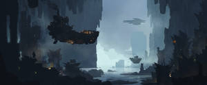 Flying barge