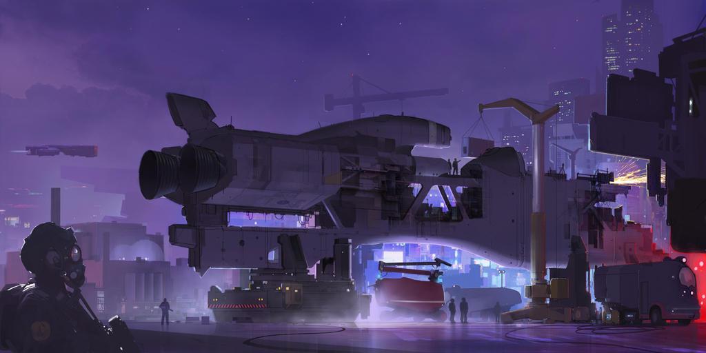 Spacedock by sketchboook