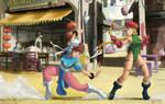 Chun-Li VS Cammy from Street Fighter II Fan art