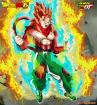 Trunkan - Super Saiyan 4 Rage by AlphaDBZ