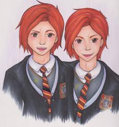 Freckled Twins by G-A-AnimeFan4