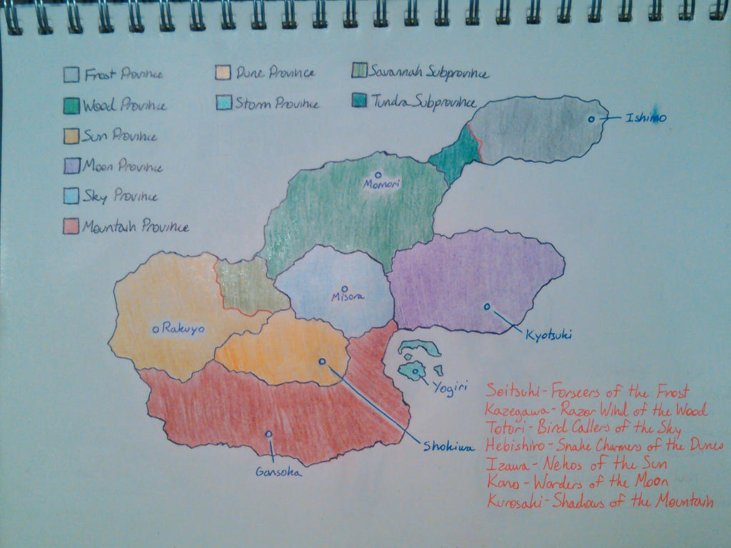 Sazuka's World Map by SazukaXDeidara4Ever