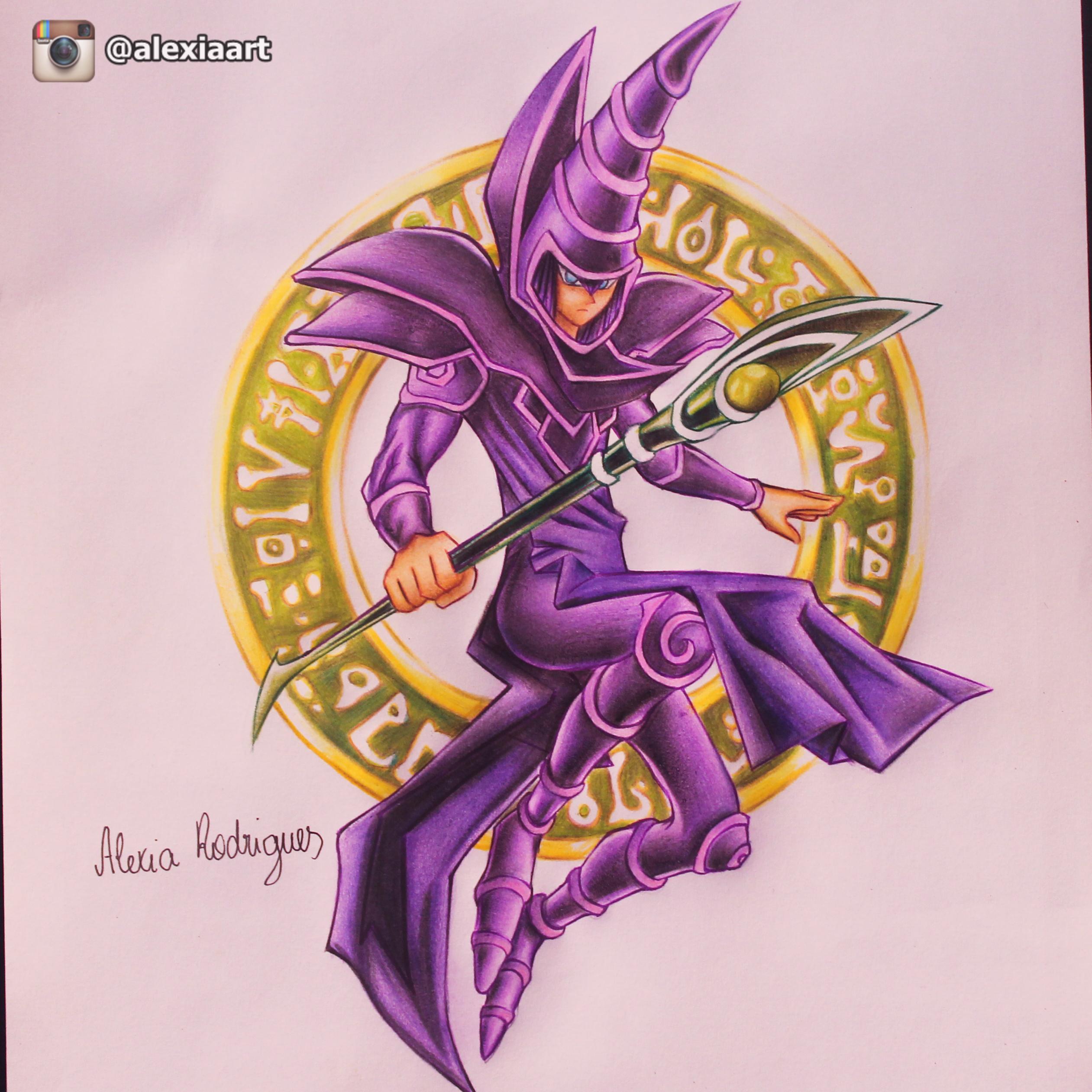 dark magician yugioh by alexiarodrigues on deviantart