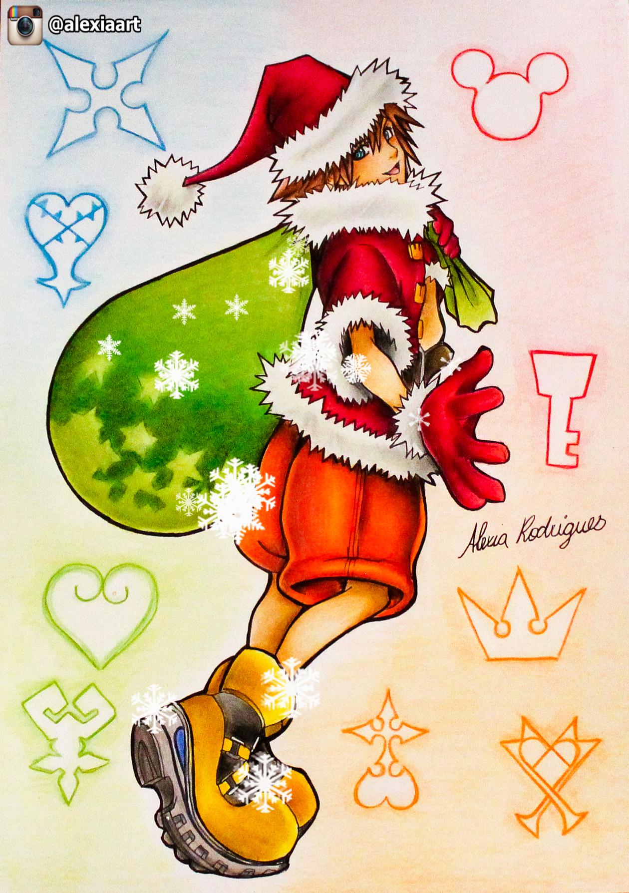 sora kingdom hearts christmas theme by alexiarodrigues on deviantart