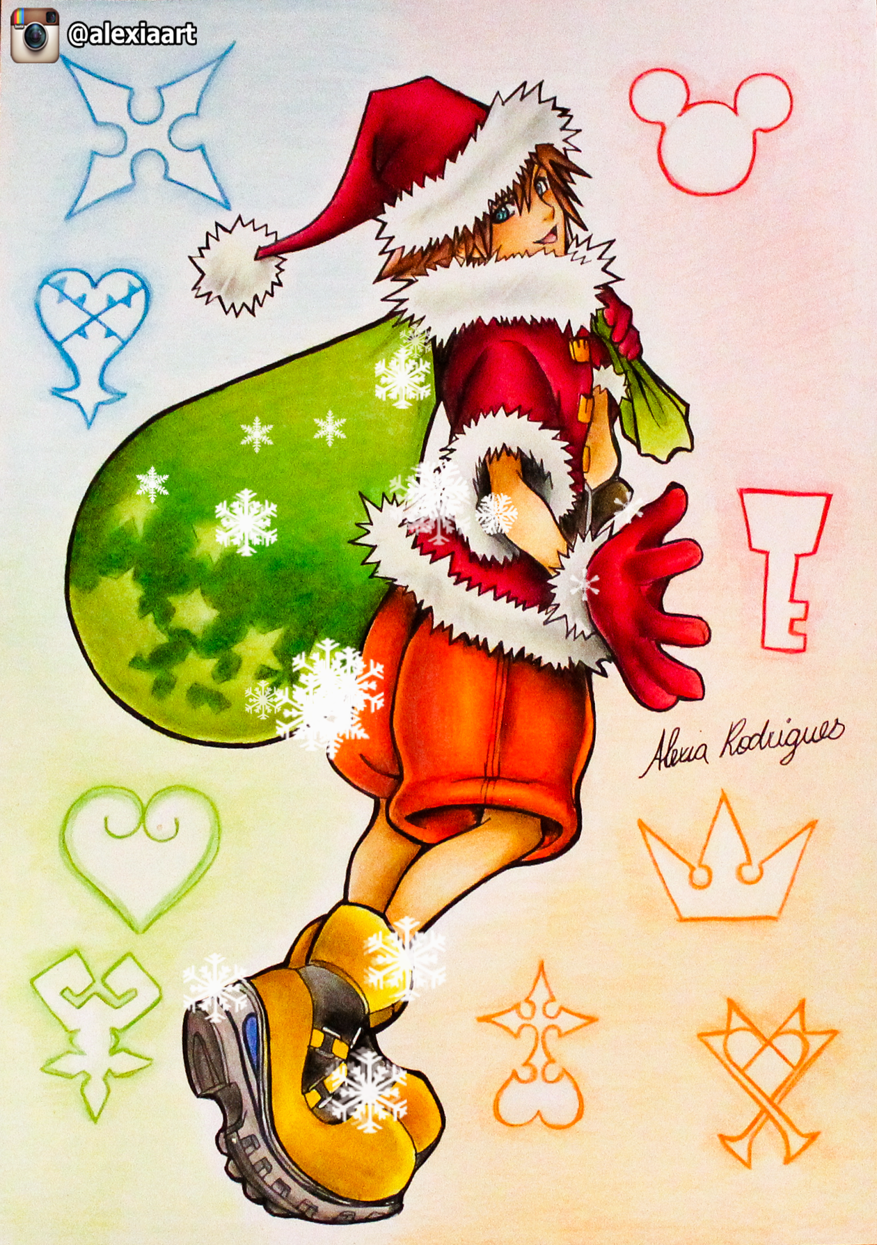 Kingdom Hearts Christmas.Sora Kingdom Hearts Christmas Theme By Alexiarodrigues On