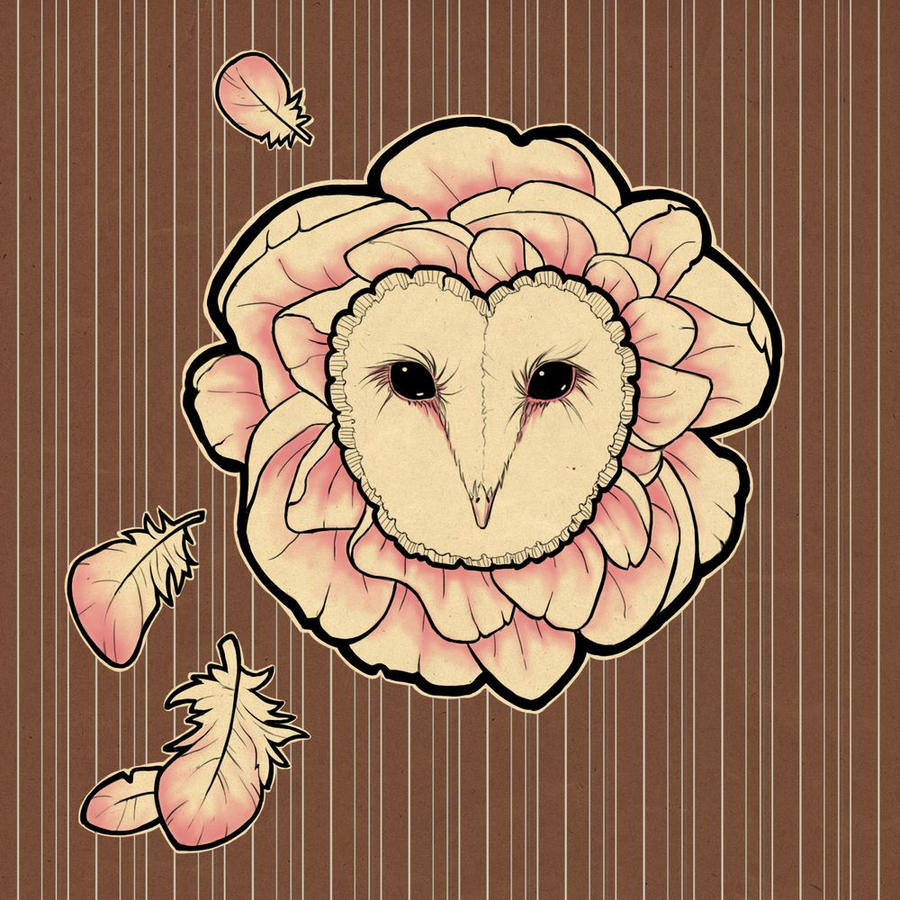 peony owl by Amap0la