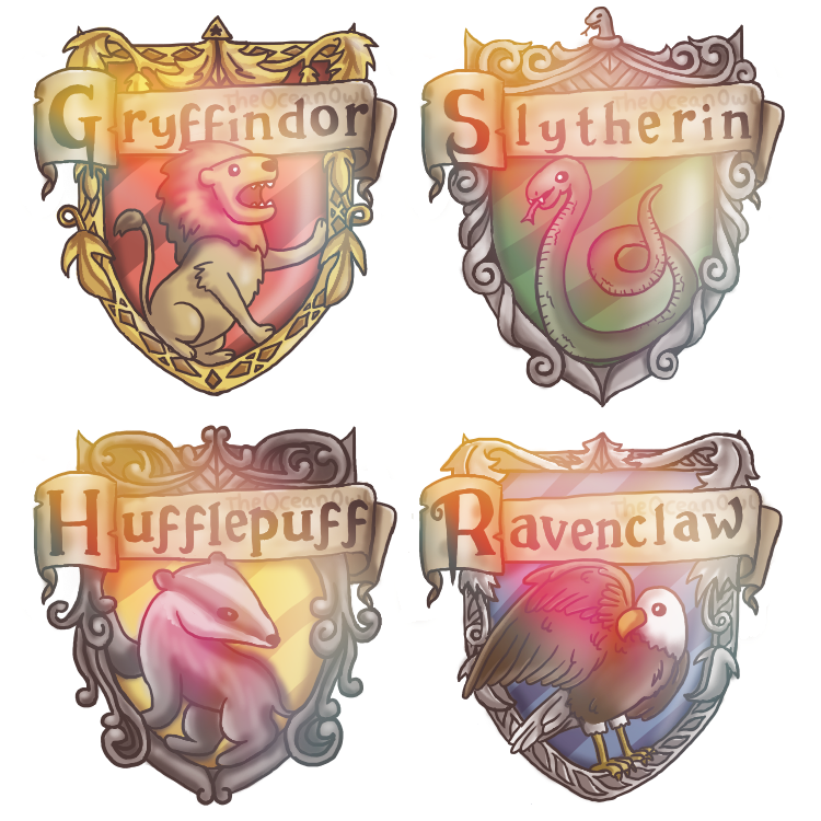 Hogwarts House Crests by TheOceanOwl on DeviantArt