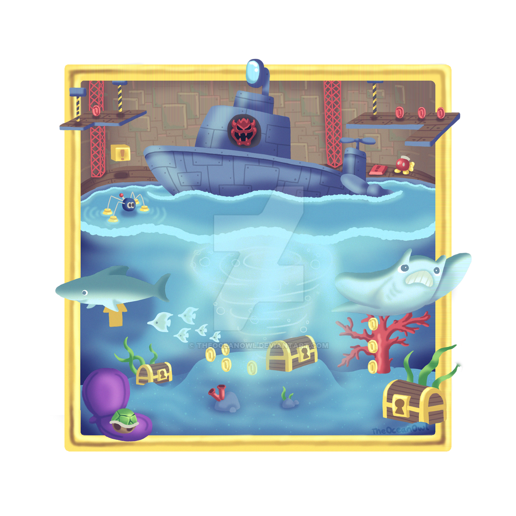 Super Mario 64 Dire Dire Docks Painting by TheOceanOwl on