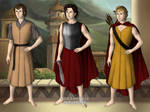 Lord Hephaestus, Lord Ares and Lord Apollo