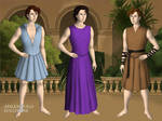 Lord Hermes, Lord Dionysus and Lord Hercules