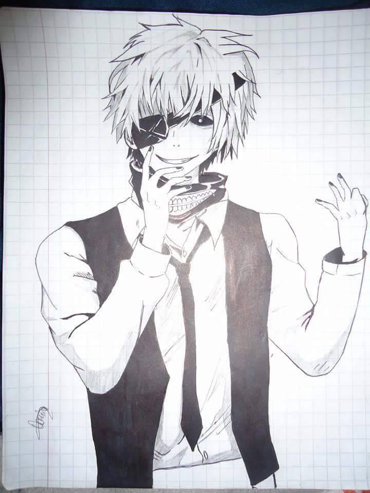 kaneki ken tokyo ghoul fan art for aominedaiki2 by Aominedaiki2