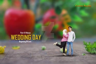 prewedding unique Putri-Ridwan