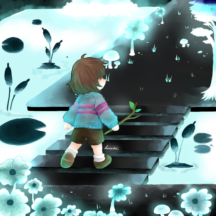 undertale frisk in waterfall - photo #5