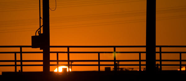 Blue Line Sunset 1 by stevecliff