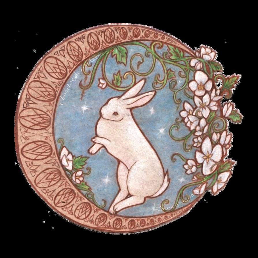 Dancing Moon Rabbit by Choestoe