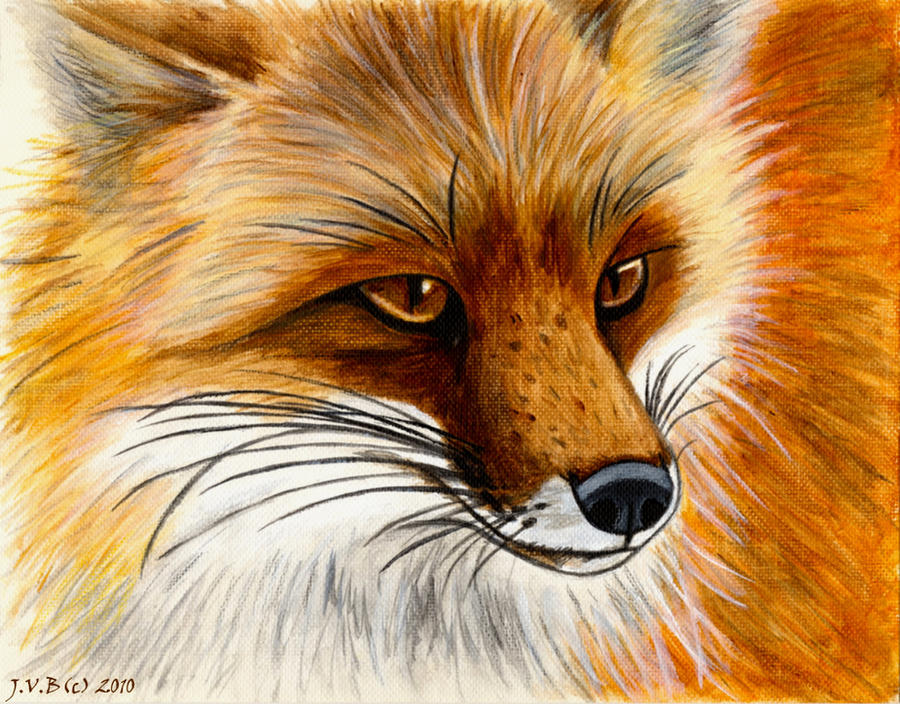 Red Fox Painting by CatBeast17