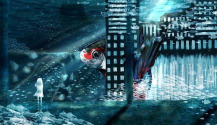 Underwater Betta City by sakuraxls2