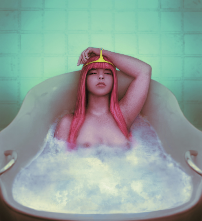 Princess Bubblegum Bubble Bath by Kros2692