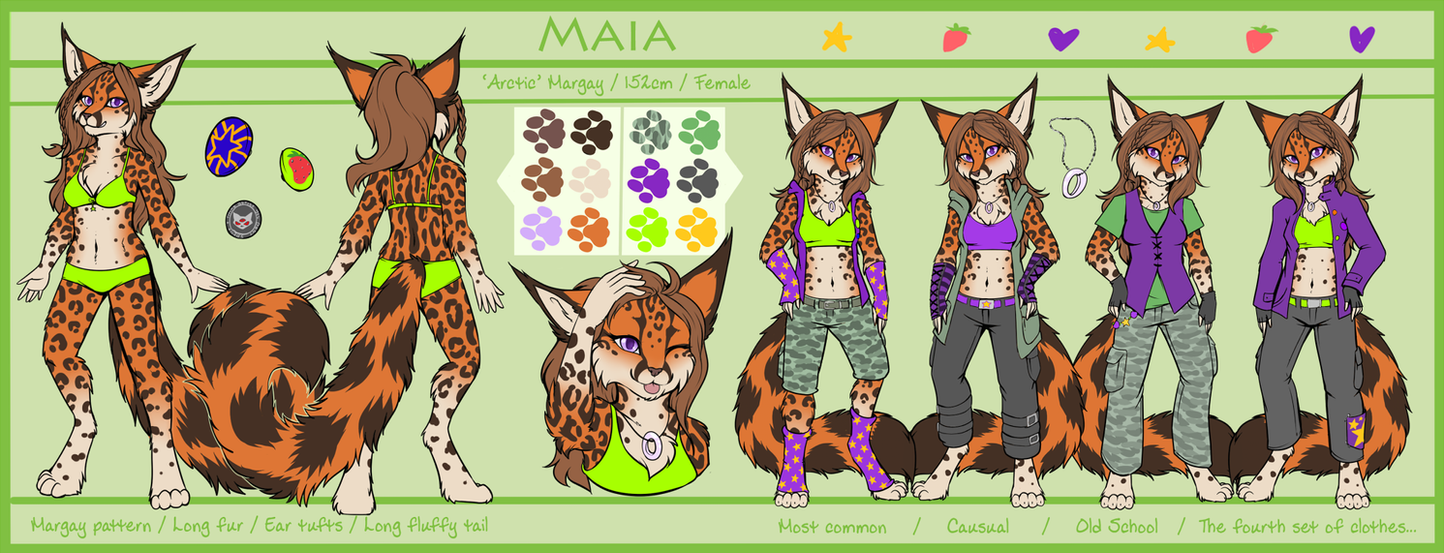 Maia - Reference sheet by Neotheta